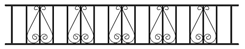 Stirling Scroll Railing Panel 1830mm GAP x 403mm High galvanised wrought iron style steel metal fence fencing ST06ZP