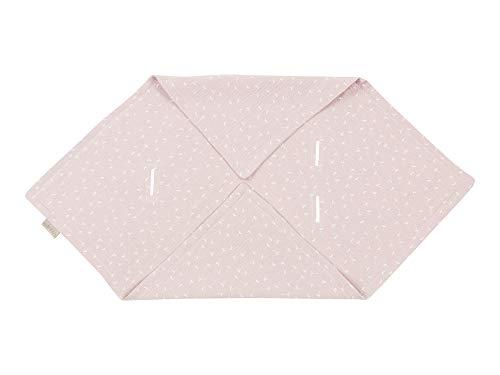 KraftKids Einschlagdecke für Babyschale in Musselin rosa Pusteblumen, 75 x 75 cm große Baby-Decke, luftige und praktische Musselin Decke für heiße Tage im Sommer