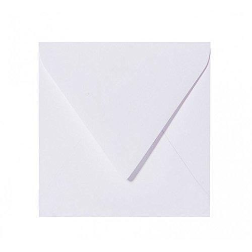 25 enveloppes carrées Blanc 15 x 15 cm 150 x 150 mm autocollantes avec languette triangulaire du monde d'Humidifier unique sans des enveloppes