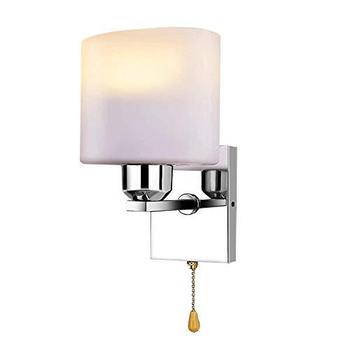 Wandlampe mit Schalter Modern Wandleuchte Innen Bettlampe Nachttischlampe aus Aluminium Wandbeleuchtung für Schlafzimmer Wohnzimmer Flur Warmweiß(Leuchtmittel inkl.)