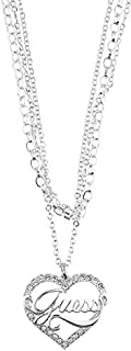 Guess Alloy Necklace for Women, Silver, UBN1290