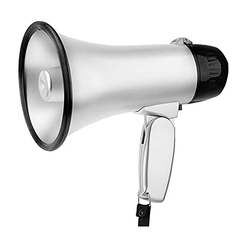 KSDCDF Megáfono Bullhorn |Altavoz Ruidoso de Bull Horn con Sirena para niños y Adultos |Megáfono de 500 Yardas con Sirena y animando