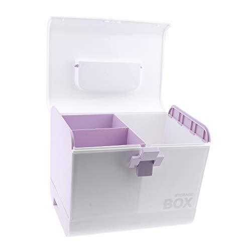 non-brand Sharplace Mallette/Coffrets/Boîte à Maquillage, Bijoux et Cosmétique Beauty Case de Rangement - Violet