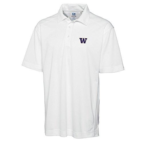 Cutter & Buck NCAA Washington Huskies Men's Genre Polo Tee, XX-Large, White