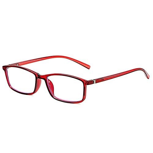 AYJS Gafas de Lectura Estilo Rectangular con Bisagra de Resorte Gafas para Computadora Gafas de Lectura para Presbicia Gafas Asistidas Incluye Lectores de Computadora Unisex