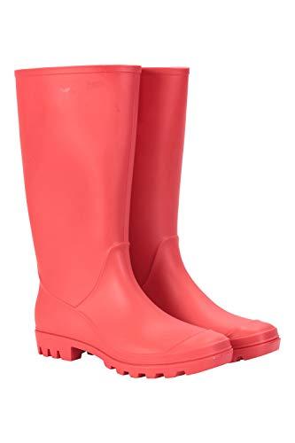 Mountain Warehouse Splash Damen-Gummistiefel - wasserdichte Regenschuhe mit Textil-Innenfutter, Eva-Polster, Starke Griffigkeit – für Festivals, Garten, Spaziergänge Rot 39 EU