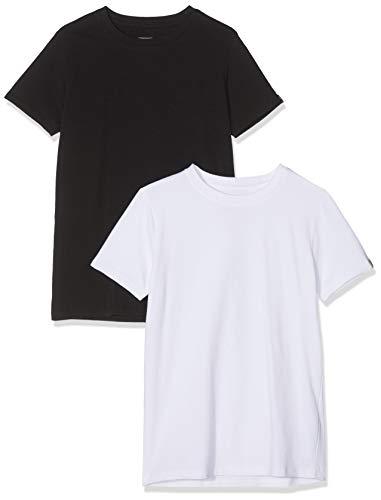 Garcia Kids Jungen Z3023 T-Shirt, Mehrfarbig (White/Black 3084), 140 (Herstellergröße: 140/146)