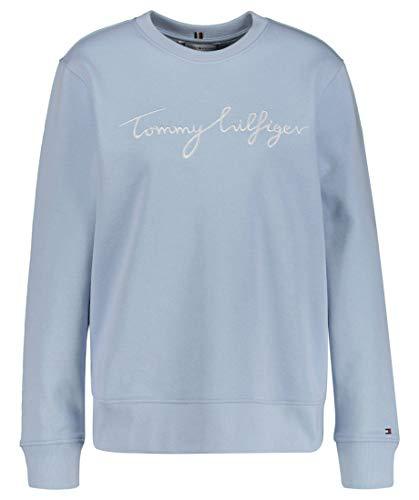 Tommy Hilfiger Damen Regular Graphic C-NK Sweatshirt, blau, XL