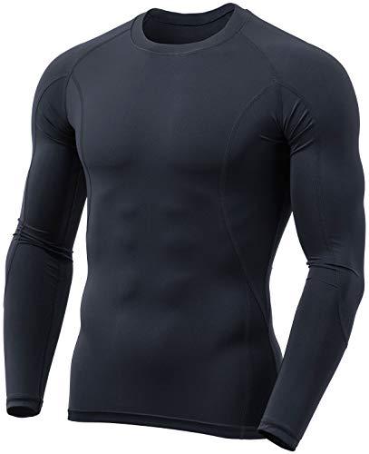 (テスラ)TESLA スポーツ コンプレッション tシャツ [UVカット・吸汗速乾] 長袖 コンプレッションウェア ランニングウェア スポーツシャツ 加圧 冷感インナー メンズ MUD31-CHC_M