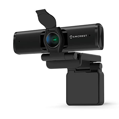 Amcrest 4K Webcam w/Microphone & Privacy Cover, Web Cam USB Camera, Computer HD Streaming Webcam for PC Desktop & Laptop w/Mic, Wide Angle Lens & Large Sensor for Superior Low Light (AWC897)