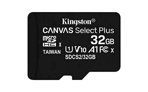 Kingston Canvas Select Plus Tarjeta microSD, SDCS2/32GB-3P1A Class 10 (3X Tarjetas,SD con Adaptador SD)