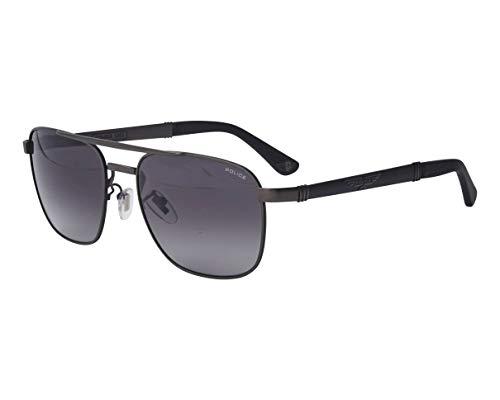 Police Origins 29 SPL-A-55 08H5 - Gafas de sol (metal), color negro mate y gris degradado
