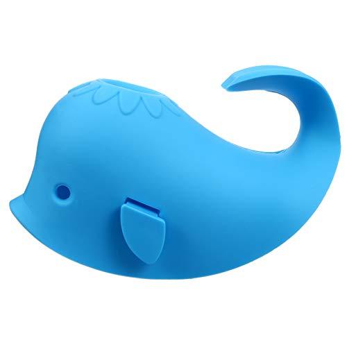 TOYANDONA Cubierta de Silicona para Caño de Baño de Bebé Cubierta de Grifo para Bañera de Ballena Protector de Extensor de Grifo para Bebés Y Niños Accesorios de Protección Azul