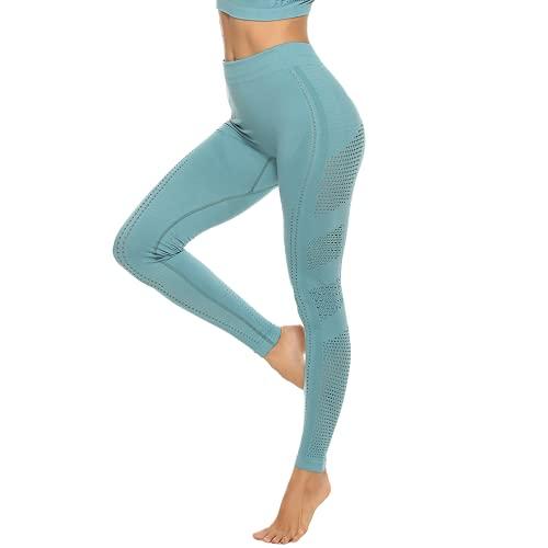 QTJY Pantalones de Yoga de Cintura Alta sin Costuras para Levantar la Cadera, Mallas para Correr para Mujer, Pantalones Deportivos de Secado rápido, Estiramiento en Cuclillas, DL
