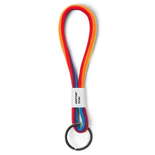Pantone Design-Schlüsselband Key Chain Short, Schlüsselanhänger für Handgelenk, robust und farbenfroh, Pride Colors, Nylon, Kurz