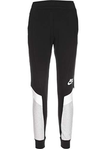 NIKE W NSW Heritage Jogger FLC MR Pants, Black/Grey Heather/White/(White), 2XL Womens