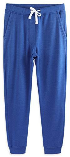 HARBETH Men's Casual Fleece Jogger Sweatpants Cotton Active Elastic Pocket Pants Heather Blue XL
