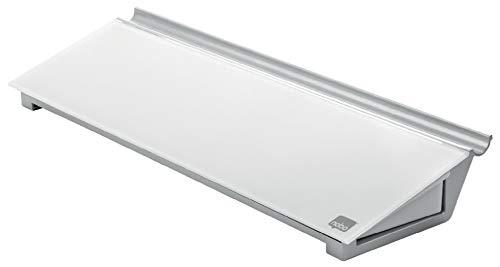 Nobo Diamond Droog afwisbaar glazen memoboard voor op het bureau met opberglade, 46 x 15 x 6 cm, incl. marker, wit, 1905174