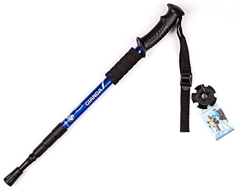 4 Section Adjustable Canes Walking Hiking Stick Poles Trekking Ultralight Telescopic Pole Cane Folding Walking Wticks for Hiking