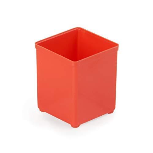 Insetbox A3 Sortimo | 20 Stück rot | Ideal für Bosch Sortimo L-BOXX | Einsatzboxen für Sortimentskästen | Bosch Sortimo Insetboxenset
