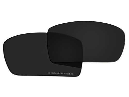 Polarized Replacement Sunglasses Lenses for Oakley Gascan with UV Protection(Black)