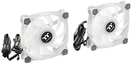 Thermaltake CL-F097-PL12SW-A Pure Duo 12 ARGB Sync Radiator Fan (2-Fan Pack), Blanco
