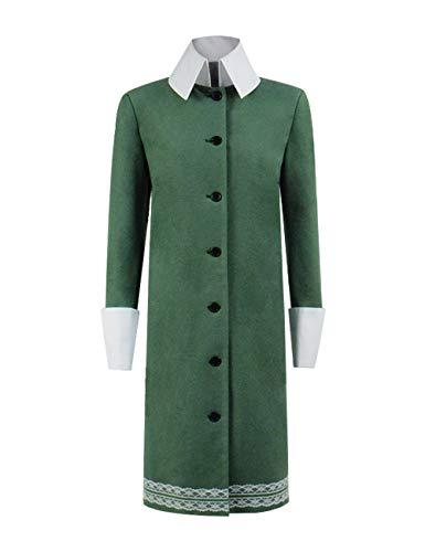 IDEALcos Halloween Mittwoch Addams Cosplay Kostüm Outfit für Erwachsene Frauen (L, Grün)