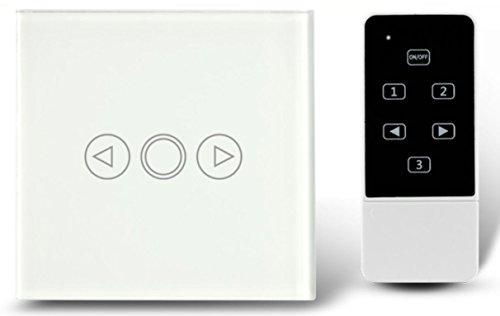 Dimmer EU Standard Crystal Touch Glas und Fernbedienung Licht Dimmer Schalter Touchscreen Dimmer Schalter Smart Switch