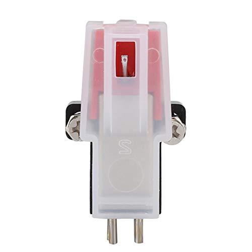 Socobeta Testina Magnetica di Ricambio per Lettore Giradischi a Magnete Mobile Alto rendimento a Doppio Canale per fonografo