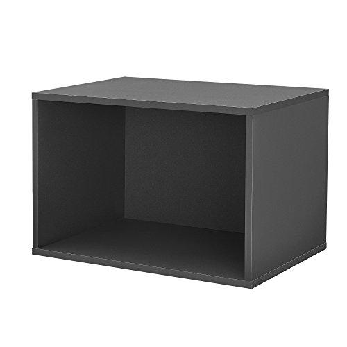 [en.casa]® Armario de diseño combinado - sistema de estantería de pared - 45x30x30 cm - gris