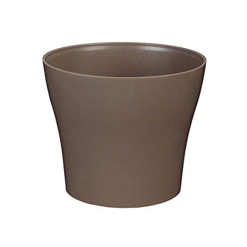 greemotion Übertopf Tulipan 13cm in Taupe, Pflanzkübel aus Kunststoff, Blumenkübel Rund für Innen & Außen, Pflanztopf Balkon & Terrasse, Pflanzgefäß Garten, Pflanzen-Zubehör