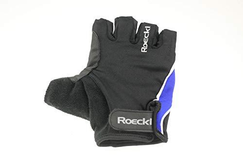 Roeckl MTB Sommer Radhandschuhe Kurzfinger Schwarz Blau 1269, Größe:10 1/2