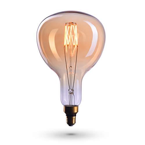 CROWN LED RIESEN 30cm Edison Glühbirne E27 Fassung, Dimmbar, 6W, 2700K, Warmweiß, 230V, EL14, Antike Filament Beleuchtung im Retro Vintage Look