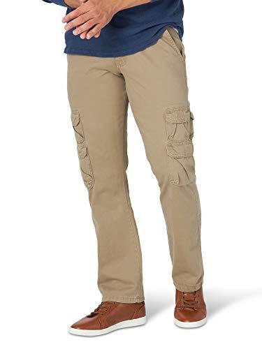 Wrangler Authentics Men's Straight Leg Cargo Pant, British Khaki, 36W X 30L