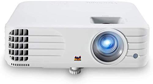 ViewSonic PX701HDP Proyector Full HD Home Cinema (3500 lúmenes, 1080p, DLP, HDMI Doble, Entrada rápida 3X, Desplazamiento Lente Vertical, tecnología SuperColor, Altavoces de 10W), Blanco