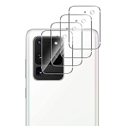QULLOO Cámara Trasera Lente para Samsung Galaxy S20 Ultra, Protector Cámara [Alta definición] Cristal Templado para Samsung Galaxy S20 Ultra 5G Smartphone - 4 Piezas