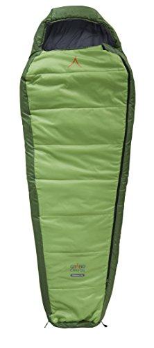Grand Canyon Fairbanks - Warmer Mumienschlafsack, 3-Jahreszeiten, Extrem: -21°, Unterseite wasserabweisend, bis Körpergröße 190 cm, für Camping, Outdoor, Survival, Trekking, grün, 301003
