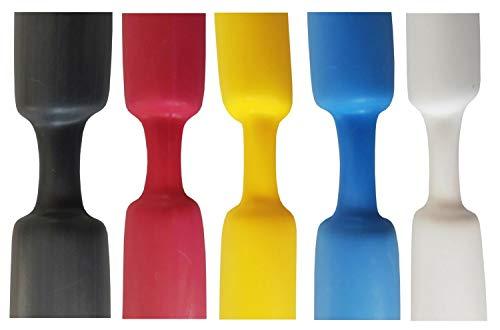 Schrumpfschlauch 3:1 mit Kleber wassserdicht von 3mm bis 50mm DM Größe/Farbe bitte wählen, Farbe:Schwarz, Größe:12mm - 1.2 Meter