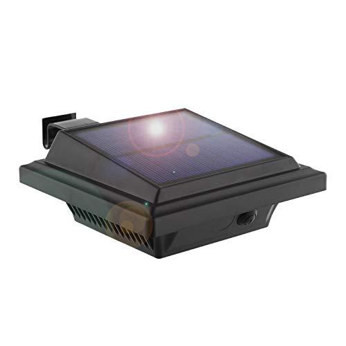 KEENZO - Lampada solare a LED per grondaia, 40 LED, luce bianca calda