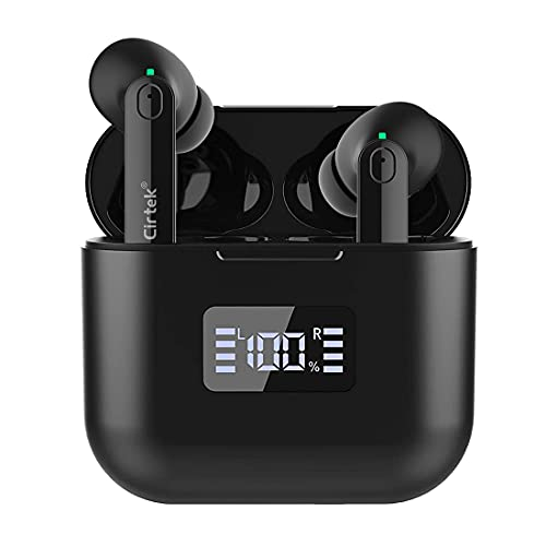 Cirtek Bluetooth True Wireless Earbuds with 4 Microphones Active Noise Cancelling Headphone Bluetooth 5.0 Stereo in-Ear Earphone Deep Bass Waterproof 35H Playtime for iPhone Android Phone Ear Buds