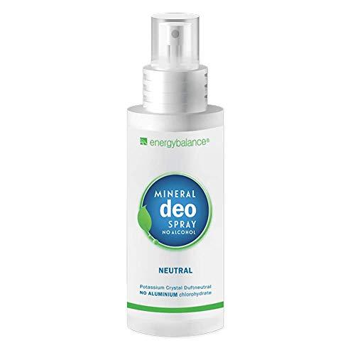 Deo EnergyBalance Kristall Spray - duftneutral - ohne Aluminiumchloride - 0% Alkohol - Unisex - Ohne Zusatzstoffe - 100ml