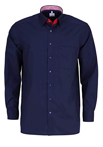 OLYMP OLYMP Luxor Comfort fit Hemd Langarm Under Button Down Kragen blau Größe 40