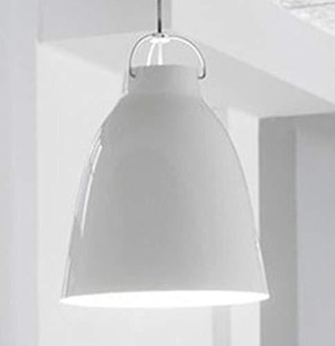 5151BuyWorld Lampe Hängeleuchten Schlafzimmer Caravaggio Nordeuropa Moderne Schnur-Anhänger-Licht Einfache Pendelleuchte Aus Aluminium Für Kfc Restaurants Top Qualität {25cm Weiß}