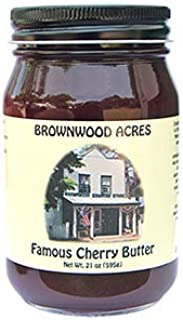 Famous Cherry Butter by Brownwood Acres, A Northern Michigan Favorite! (21 Ounce)
