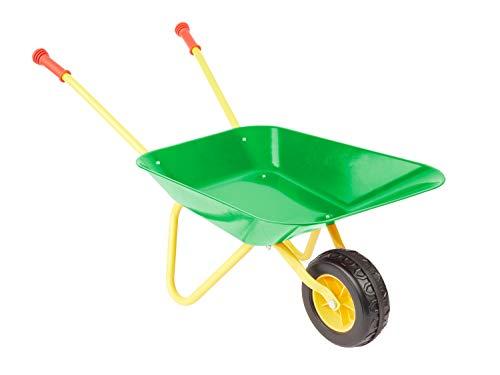 Bieco Metallschubkarre Kinder | ca. 76x32x36cm | Kinder Gartengeräte | Schubkarre Kinder ab 3 Jahre | Scheibtruhe Kinder | Kinder Schubkarren Metall | Schubkarre Kind | Gartengeräte Kinder Spielzeug
