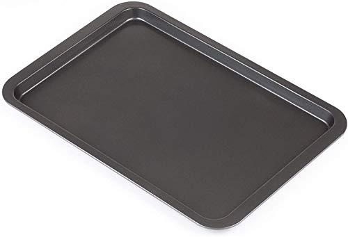 SHOPPERS STOP Essentials Bandeja grande para hornear/horno, fácil de limpiar con revestimiento antiadherente (juego de 2) (43 x 28,5 x 3 cm)