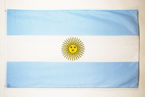 AZ FLAG Flagge ARGENTINIEN 90x60cm - ARGENTINISCHE Fahne 60 x 90 cm feiner Polyester - flaggen