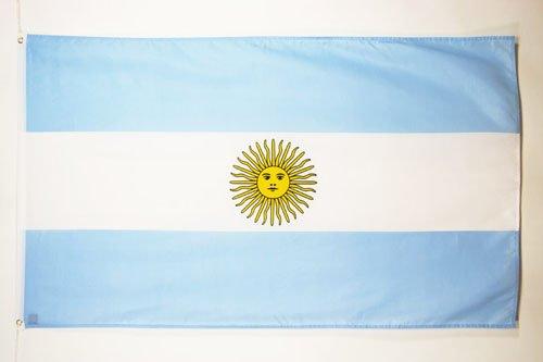 AZ FLAG Flagge ARGENTINIEN 90x60cm - ARGENTINISCHE Fahne 60 x 90 cm - flaggen Top Qualität
