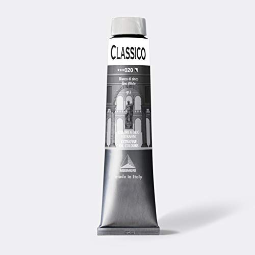 Maimeri - Colore ad olio, Serie: Classico tubo da 200ml BIANCO DI ZINCO