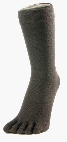 Toe Toe Des chaussettes doigts classiques grises